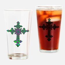 Jewel Cross Drinking Glass