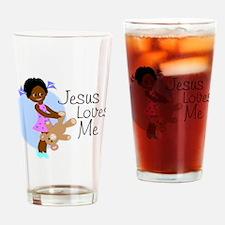 Jesus Loves Me Drinking Glass