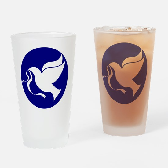Peace Dove Drinking Glass