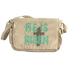 He is Risen Messenger Bag