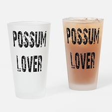 Possum Lover Drinking Glass