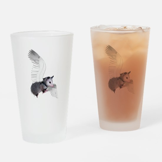 Angel Possum Drinking Glass