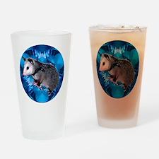 Baby Possum Kaleidoscope Drinking Glass