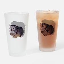 Baby Possum Drinking Glass