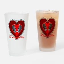 Possumbilities Valentines Day Drinking Glass