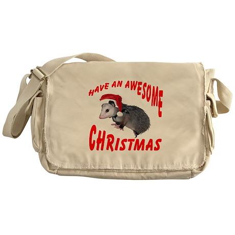 Santa Helper Possum Messenger Bag