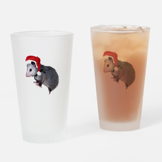 Santa Possum Drinking Glass