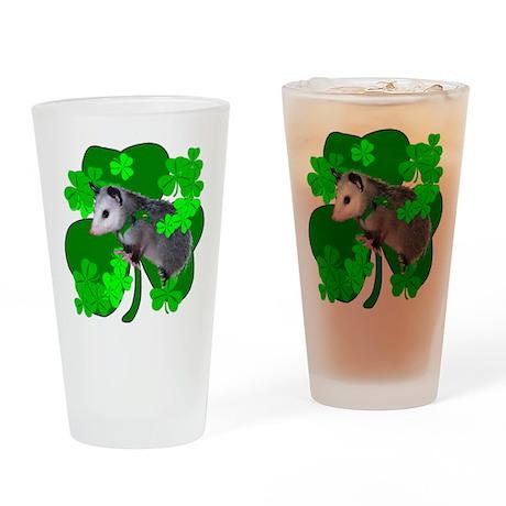 Lucky Irish Possum Drinking Glass