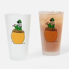 Possum Leprechaun Drinking Glass