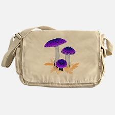 Purple Mushrooms Messenger Bag