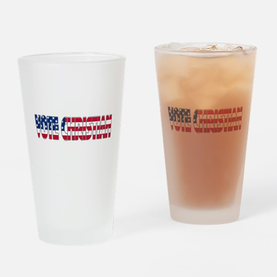 Vote Christian Drinking Glass