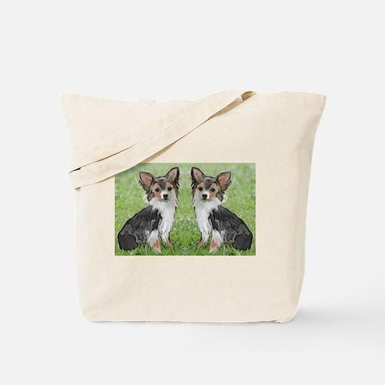 Long Coated chihuahua Tote Bag