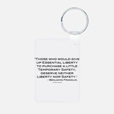 Liberty Nor Safety (Quote) Keychains