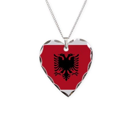 Albania Necklace Heart Charm