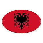 Albania Sticker (Oval 10 pk)