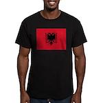 Albania Men's Fitted T-Shirt (dark)