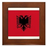 Albania Framed Tile