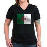 Algeria Women's V-Neck Dark T-Shirt