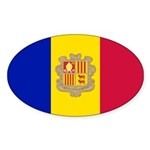 Andorra Sticker (Oval 10 pk)