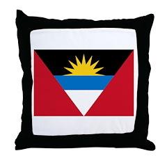 Antigua and Barbuda Throw Pillow