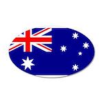 Australia 38.5 x 24.5 Oval Wall Peel