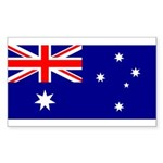 Australia Sticker (Rectangle 10 pk)