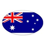 Australia Sticker (Oval 50 pk)
