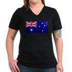 Australia Women's V-Neck Dark T-Shirt