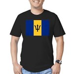 Barbados Men's Fitted T-Shirt (dark)