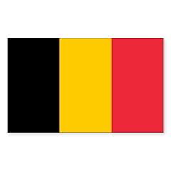 Belgium Sticker (Rectangle 10 pk)