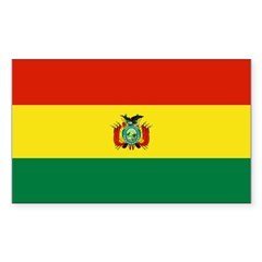Bolivia Sticker (Rectangle 10 pk)