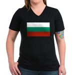 Bulgaria Women's V-Neck Dark T-Shirt
