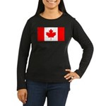 Canada Women's Long Sleeve Dark T-Shirt