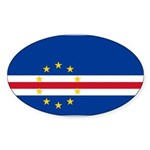 Cape Verde Sticker (Oval 10 pk)