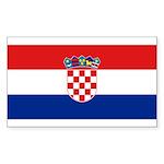Croatia Sticker (Rectangle 10 pk)
