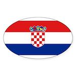 Croatia Sticker (Oval 10 pk)