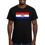 Croatia Men's Fitted T-Shirt (dark)