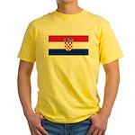 Croatia Yellow T-Shirt