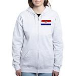 Croatia Women's Zip Hoodie