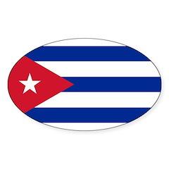 Cuba Sticker (Oval 10 pk)