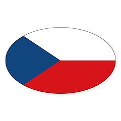 Czech Republic Sticker (Oval 50 pk)