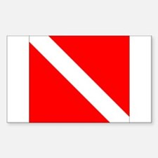 Diver Down Sticker (Rectangle)