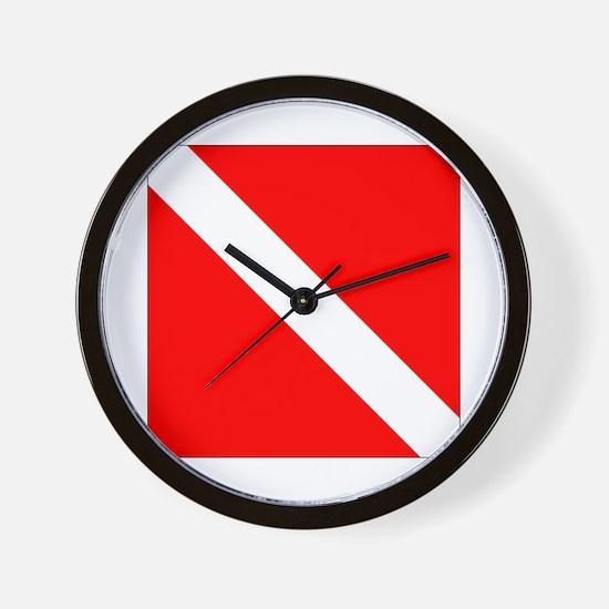 Diver Down Wall Clock