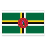 Dominica Sticker (Rectangle 10 pk)