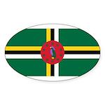 Dominica Sticker (Oval 50 pk)