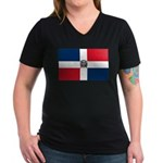 Dominican Republic Women's V-Neck Dark T-Shirt