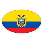 Ecuador Sticker (Oval 10 pk)