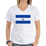 El Salvador Women's V-Neck T-Shirt