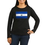 El Salvador Women's Long Sleeve Dark T-Shirt