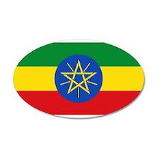 Ethiopia 38.5 x 24.5 Oval Wall Peel